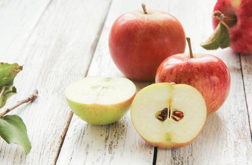 Apfel Anschnitt Kerne Tisch pfel Fruchtfleisch