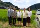 木村秋則さん、自然栽培米の田んぼ視察